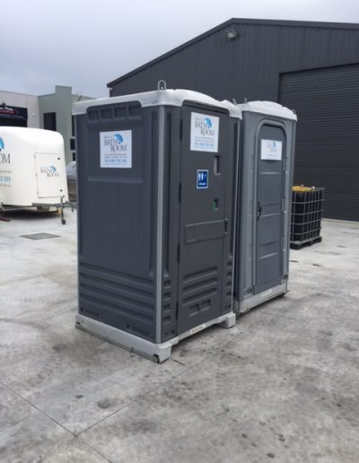 Combo of portable toilet & shower